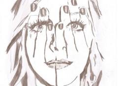 Art - Pencil main visage-visage main