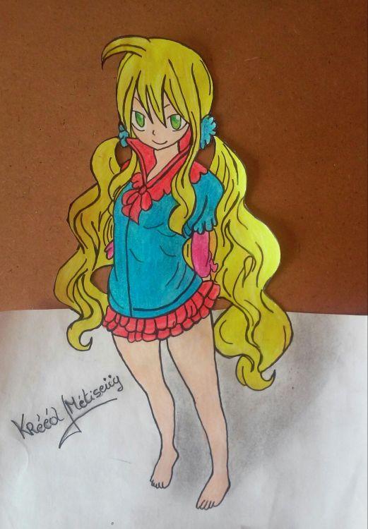 Wallpapers Art - Pencil Manga - Fairy Tail mavis vermillion