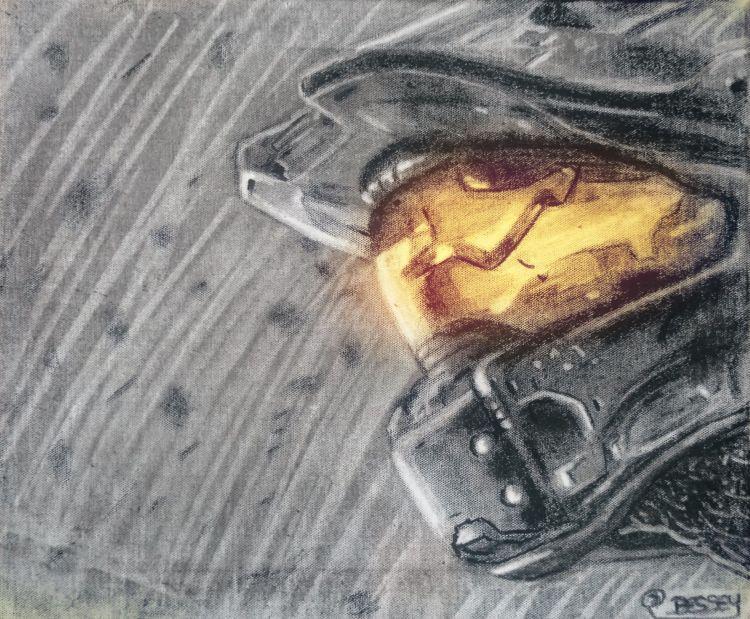 Fonds d'écran Art - Peinture Science-fiction Halo Master chief