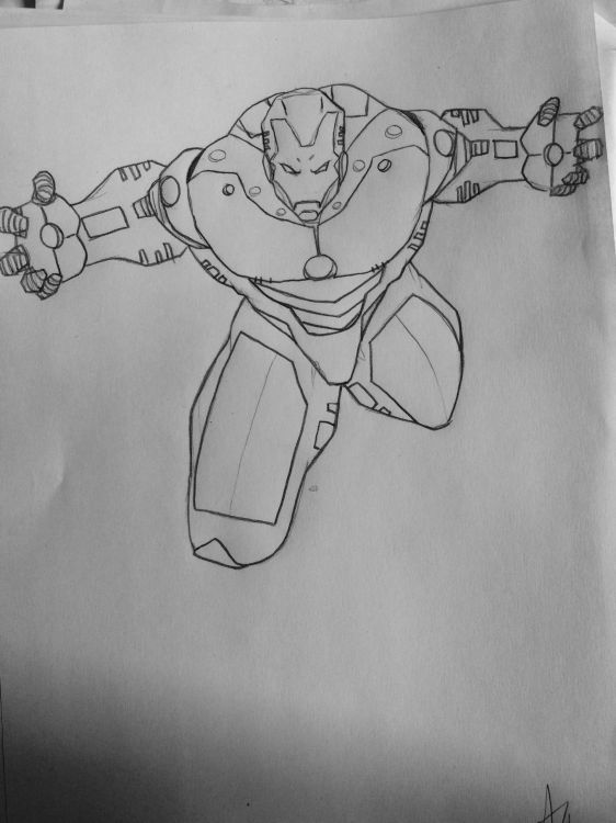 Wallpapers Art - Pencil BDs - Iron Man Marvel AZK-1
