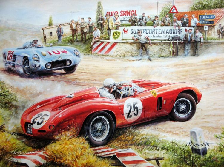 Wallpapers Art - Pencil Cars and motorbikes Vaclav_Zapadlik_Painting_1