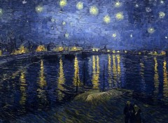 Art - Peinture Vincent Van Gogh - Nuit étoilée sur le Rhône (1888)
