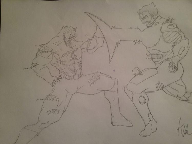 Wallpapers Art - Pencil BDs - Avengers Captain va iron man