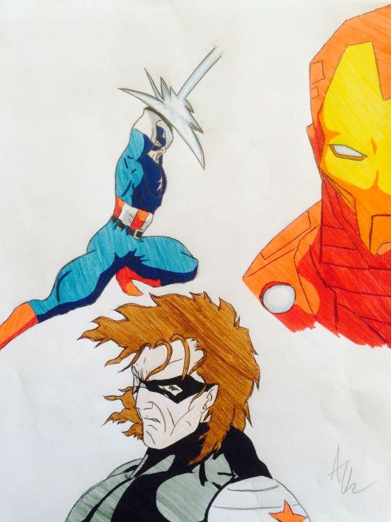 Wallpapers Art - Pencil BDs - Avengers Wallpaper N°429229