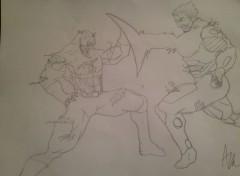 Art - Pencil Captain va iron man