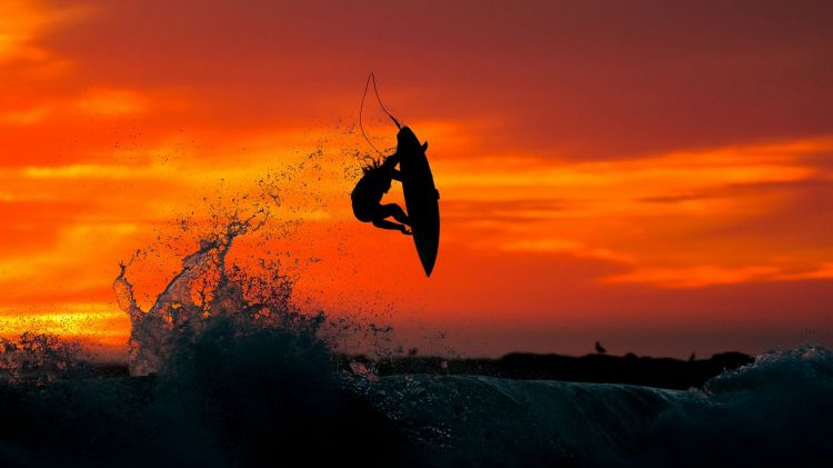 Wallpapers Sports - Leisures Surf sunset-surfing