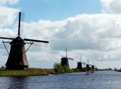 Trips : Europ Alignement de moulins (Pays-Bas)