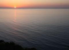 Nature couché de soleil sur le cotentin