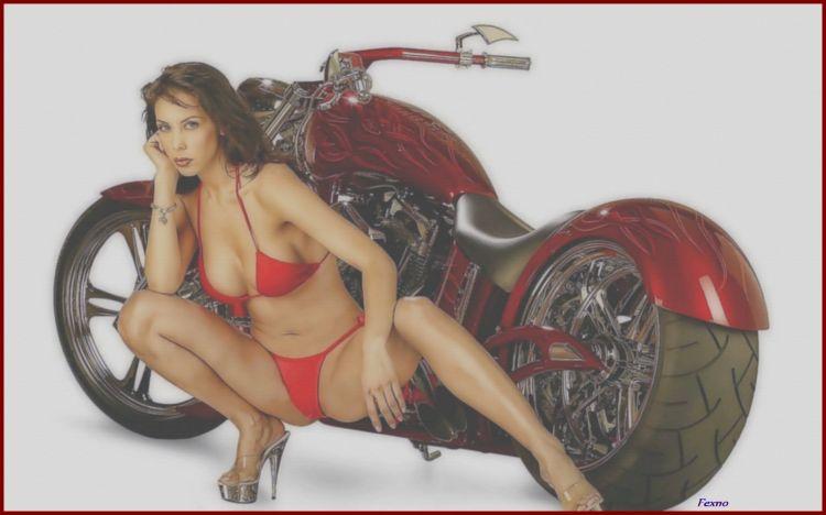 Wallpapers Motorbikes Girls and motorbikes Wallpaper N°434182