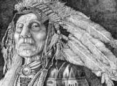 Art - Pencil Hoema'Haahe (Old Man Winter)
