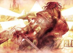 Video Games Zelda. Link and Ganondorf