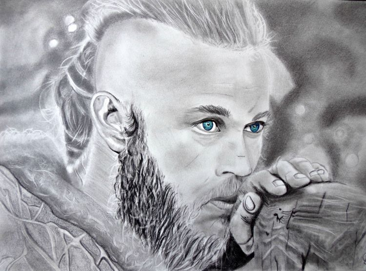 Fonds d'écran Art - Crayon Portraits Ragnar Lothbrok - Vikings