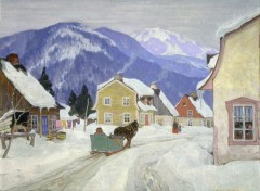 Art - Peinture Village Laurentien - 1927 - Clarence Gagnon