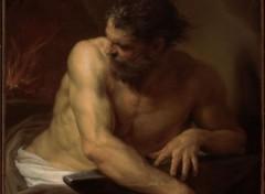 Art - Peinture Vulcain dans sa forge - 1750 - Pompeo Batoni