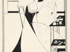 Art - Peinture Salomé (La Toilette 2)- 1906 - Aubrey Beardsley