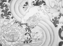 Art - Pencil Tiger Japanese Style