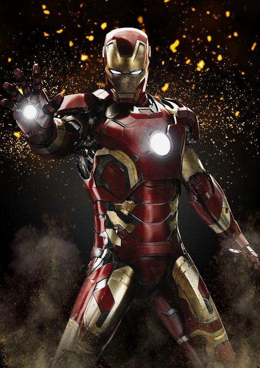 Fonds d'écran Cinéma Iron Man Iron Man Explosion