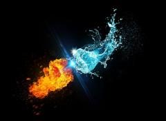 Abstract - Art Le feu contre l'eau - poing
