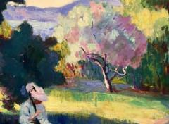 Art - Peinture Le Pré, villa Demière - 1905 - Henri-Charles Manguin