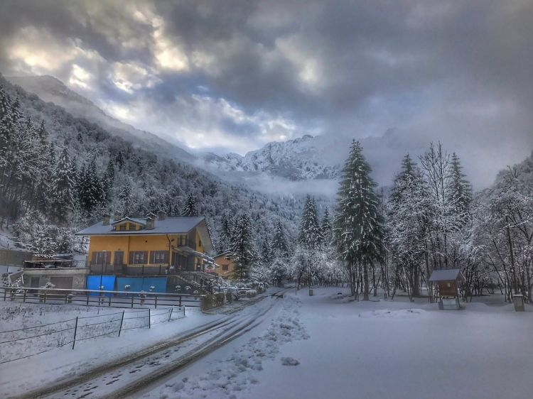 Wallpapers Trips : Europ Italy Neve in montagna