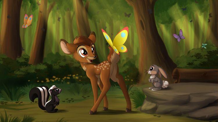 Fonds d'écran Dessins Animés Bambi Wallpaper N°460942