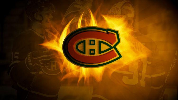 Wallpapers Sports - Leisures Hockey Habs feu