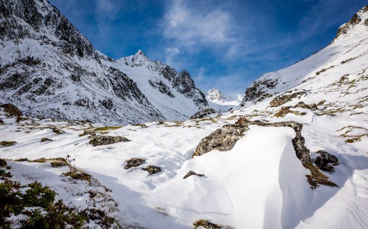 Fonds d'écran Nature Montagnes Bouleste, Pyrénées, montagne, neige