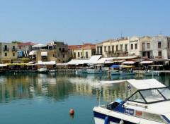 Voyages : Europe Le petit port de Réthymnon