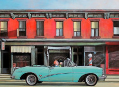 Art - Peinture Dimanche matin en Cadillac
