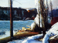 Art - Peinture Les Palisades - 1909 - Georges Bellows