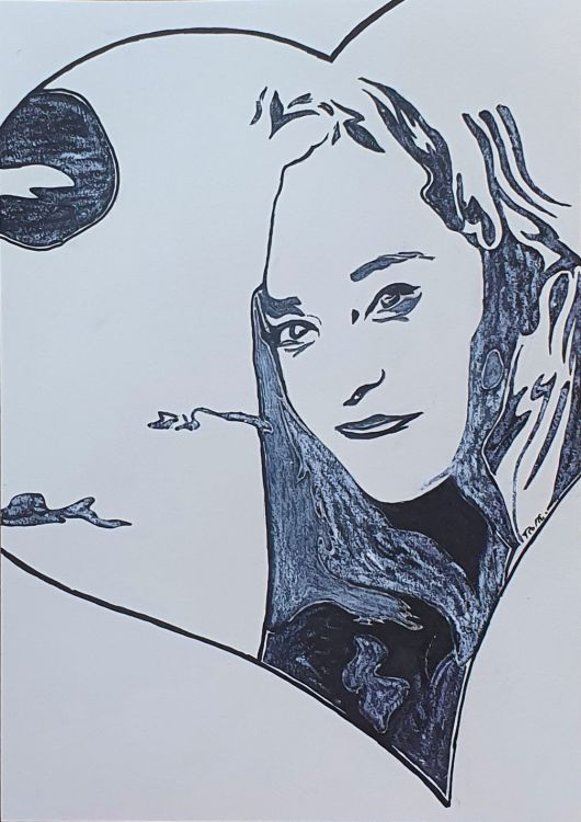 Fonds d'écran Art - Crayon Amour, amitié Wallpaper N°480932