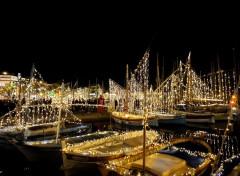 Boats port de Sanary/mer à Noël